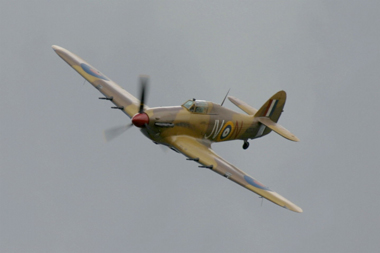 Hawker Hurricane Mk IV G-HURY KZ321 (JV-N) at RAF Coltishall Last Enthusiasts Day